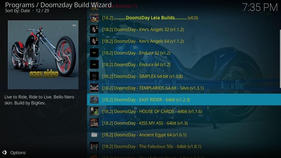 kodi doomzday builds