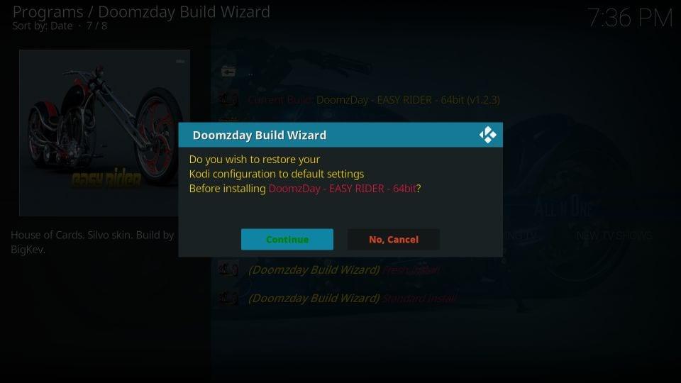 install doomzday builds on kodi