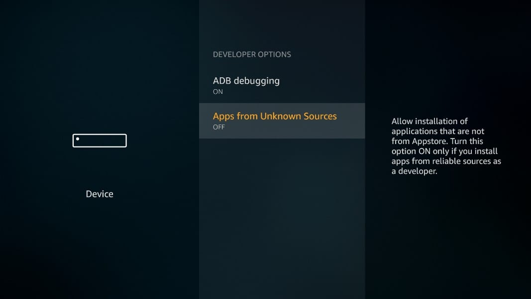 apps from unknown sources on firestick