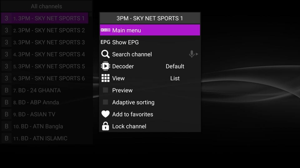 steps to install perfect iptv player