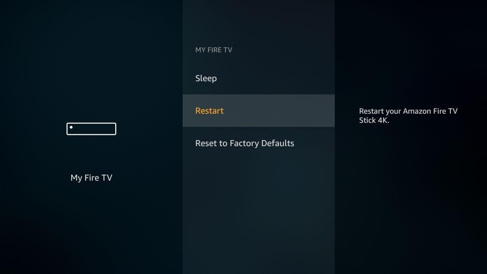 reboot firestick