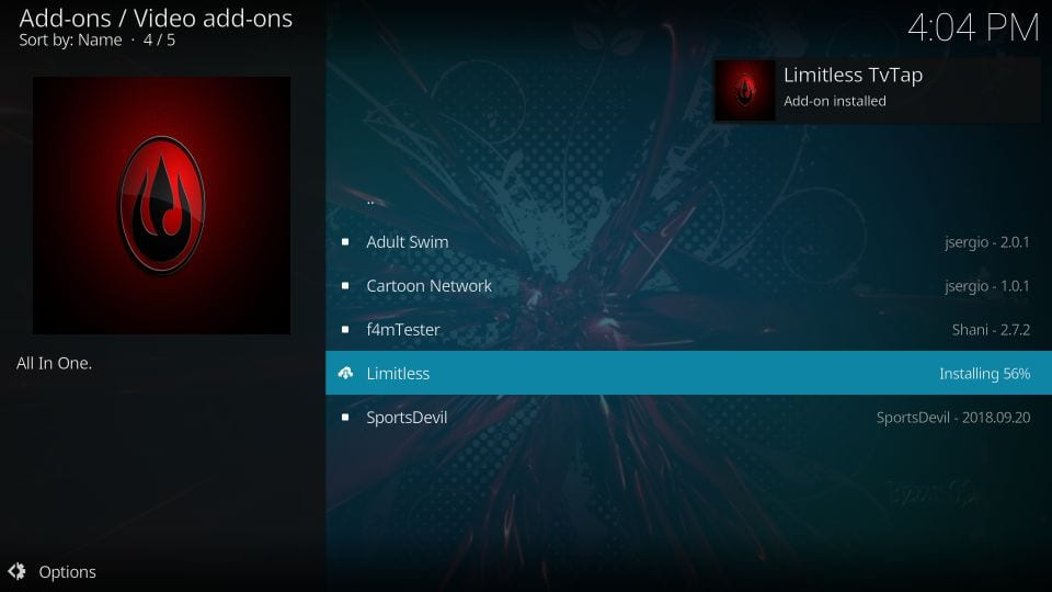 how to    install and use limitless addon on kodi