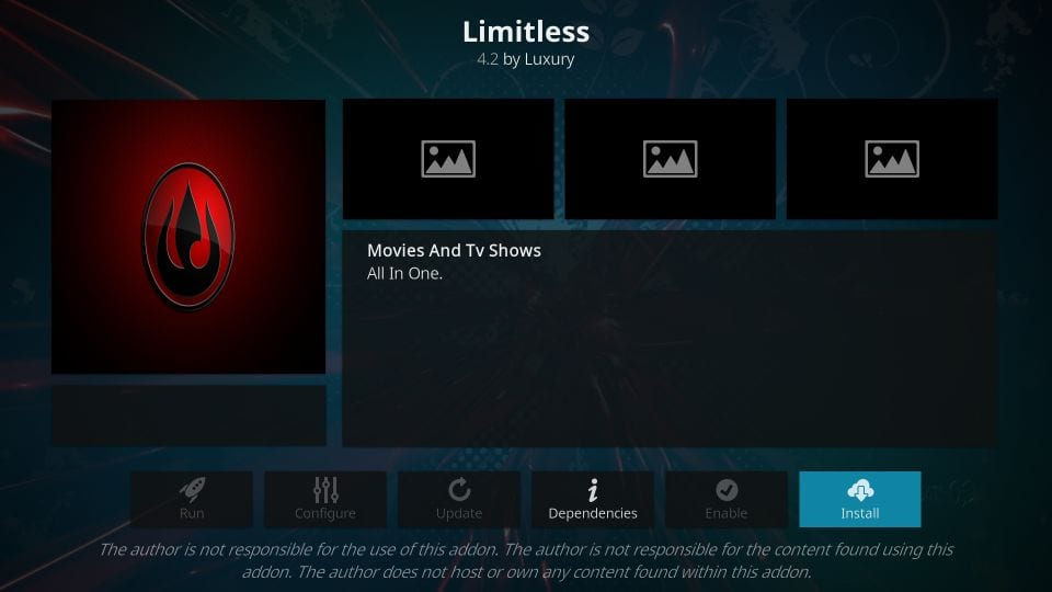 Unlimited addon for kodi