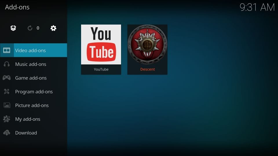 Open video addons