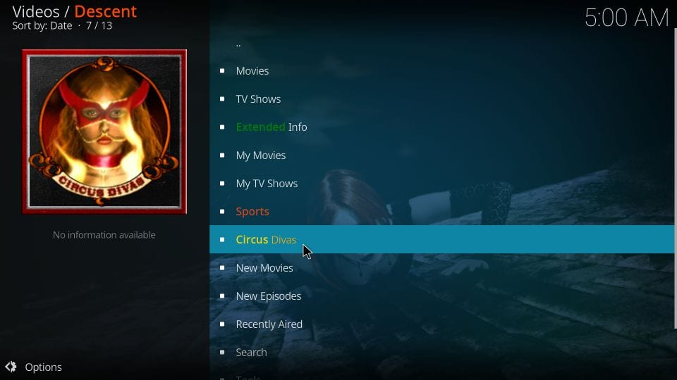Descent kodi addon