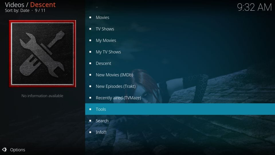 Setting up Descent addon on kodi