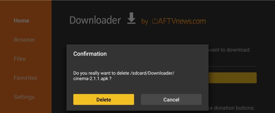downloader app on Android TV box