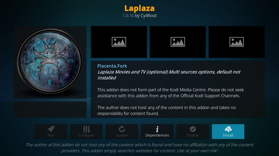 how to    install laplaza kodi addon