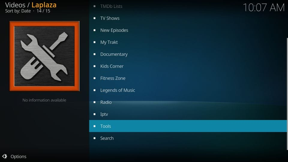 № streams available on laplaza kodi addon