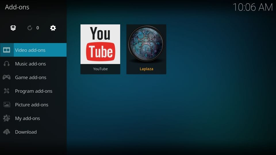 how to    use Laplaza kodi addon