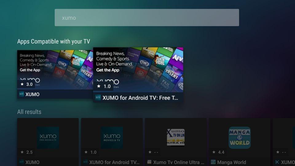 open xumo app