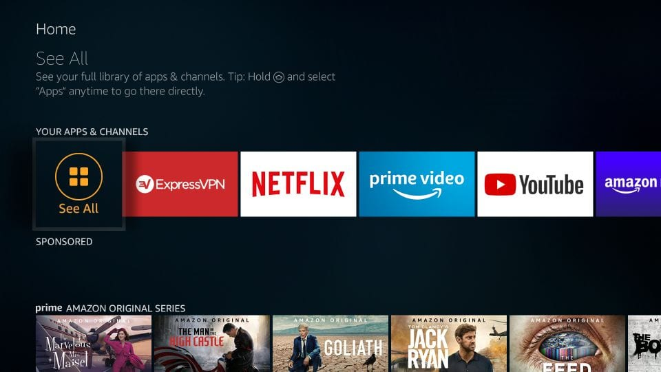 firestick home page