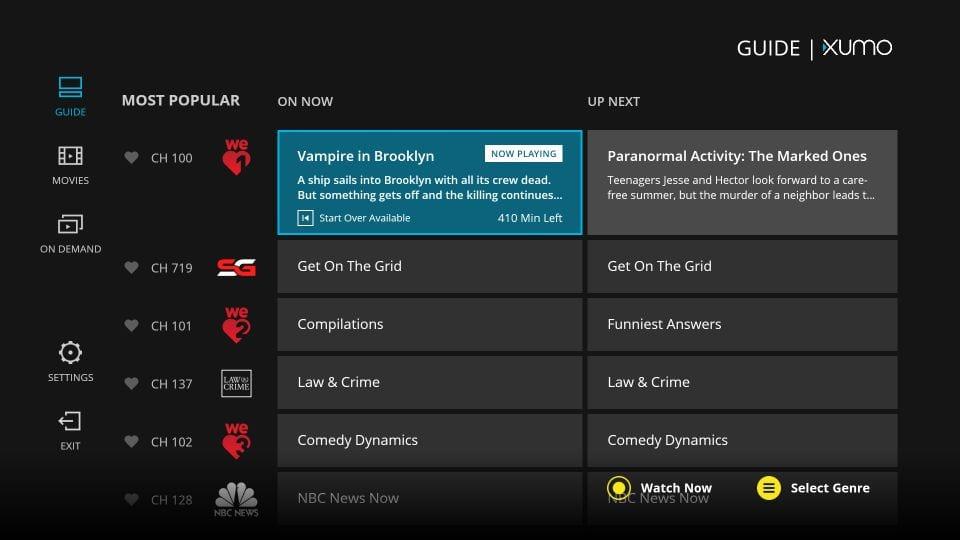 open xumo TV app on Amazon Firestick