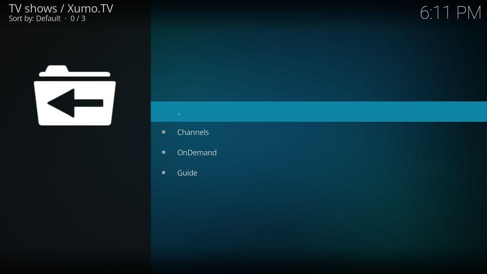 xumo TV channels list