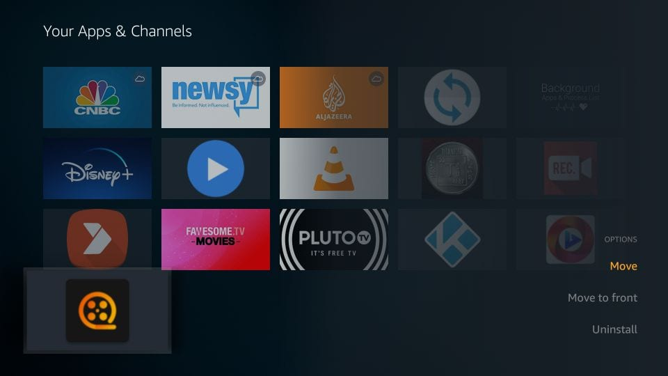 move theater plus app to home screen on amazon Firestick