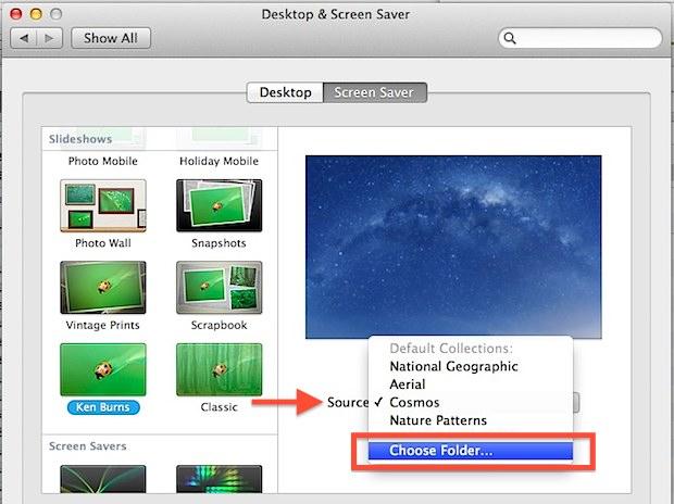 Turn an image folder into a screen saver in Mac OS X