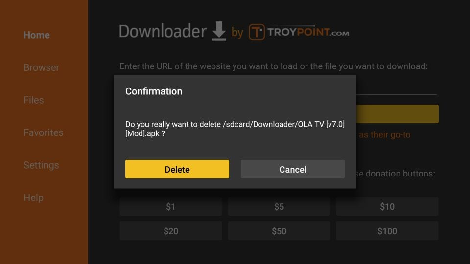 how to install ola TV on firestick