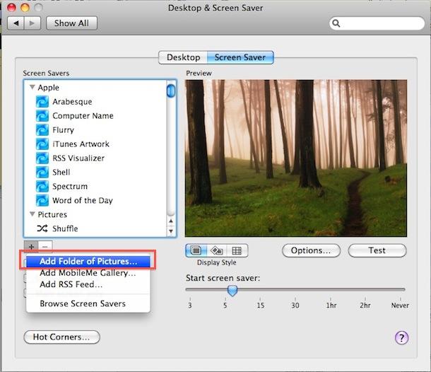 create your own screensaver mac