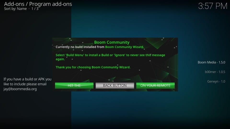 boom    kodi builds