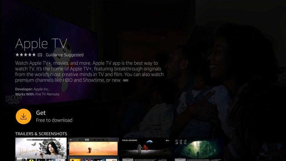 download apple tv on Firestick