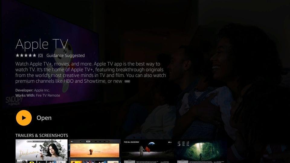 Install Apple TV on Fire Stick