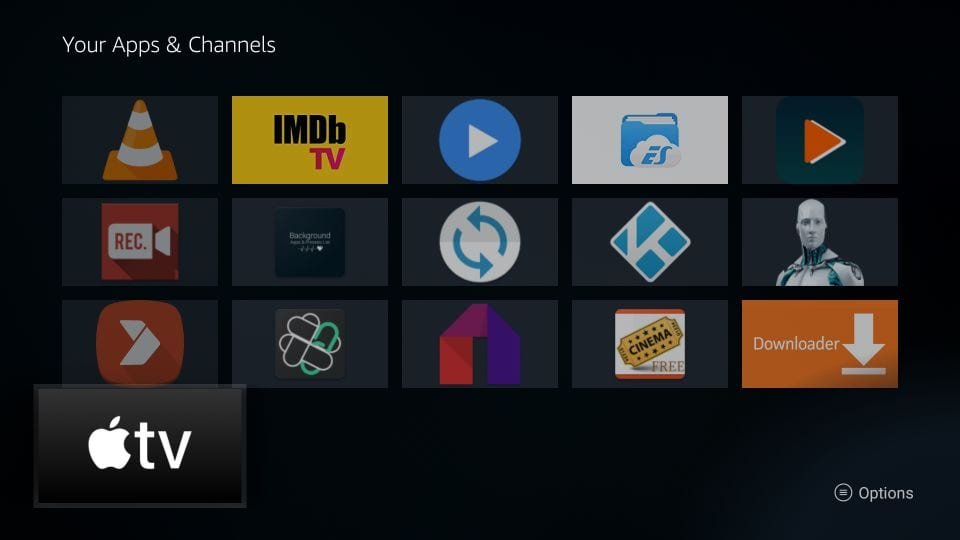 how to    install apple tv on Firestick