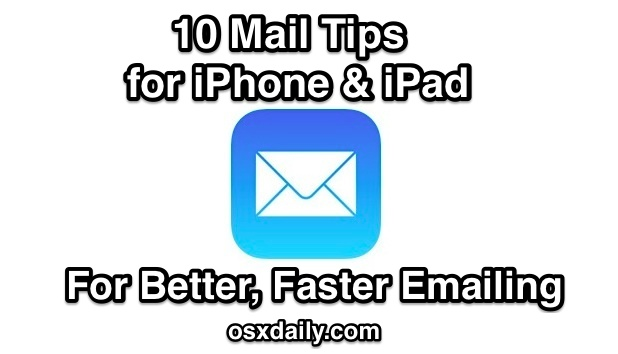 10 Email tips for iOS