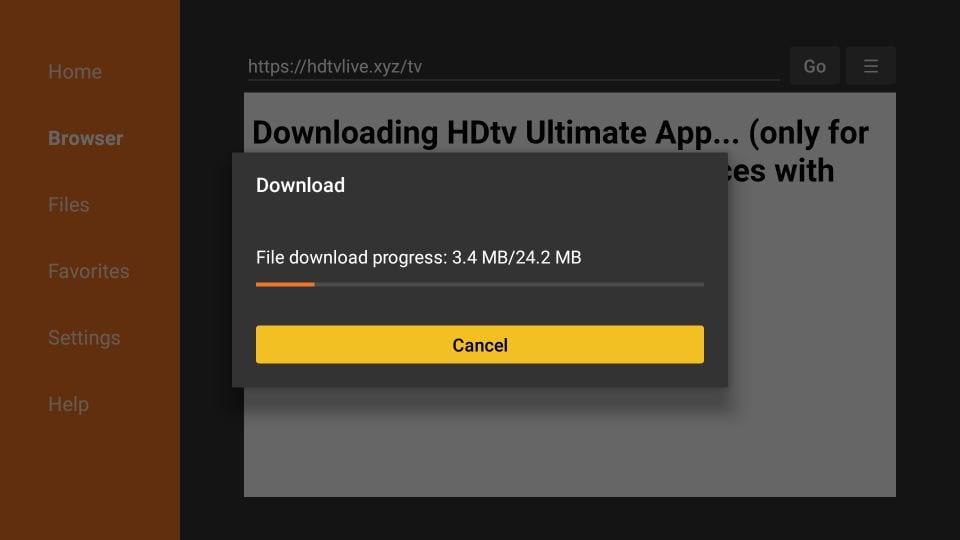 downloading hdtv ultimate apk file