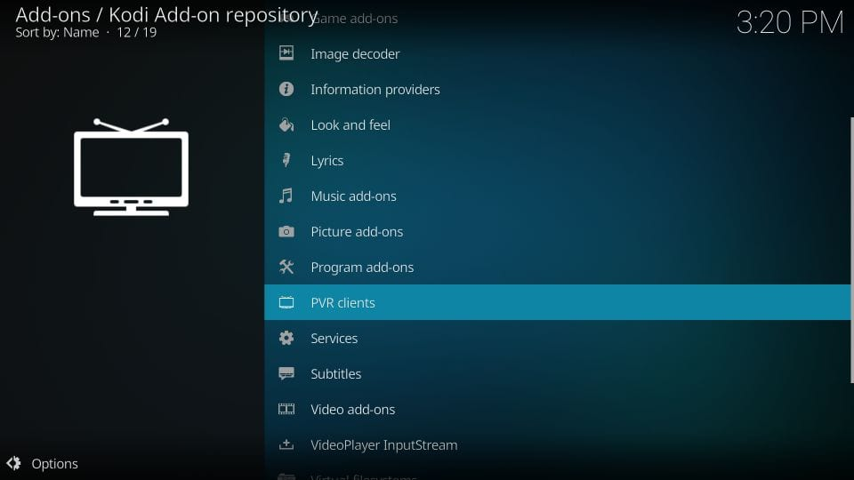 how to    install pvr iptv simple client kodi addon