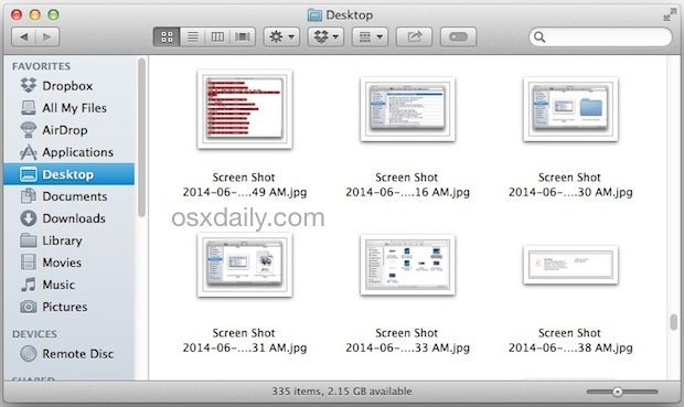 The default save location for screenshots in Mac OS X can be changed