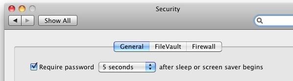 Enable mac lock screen password