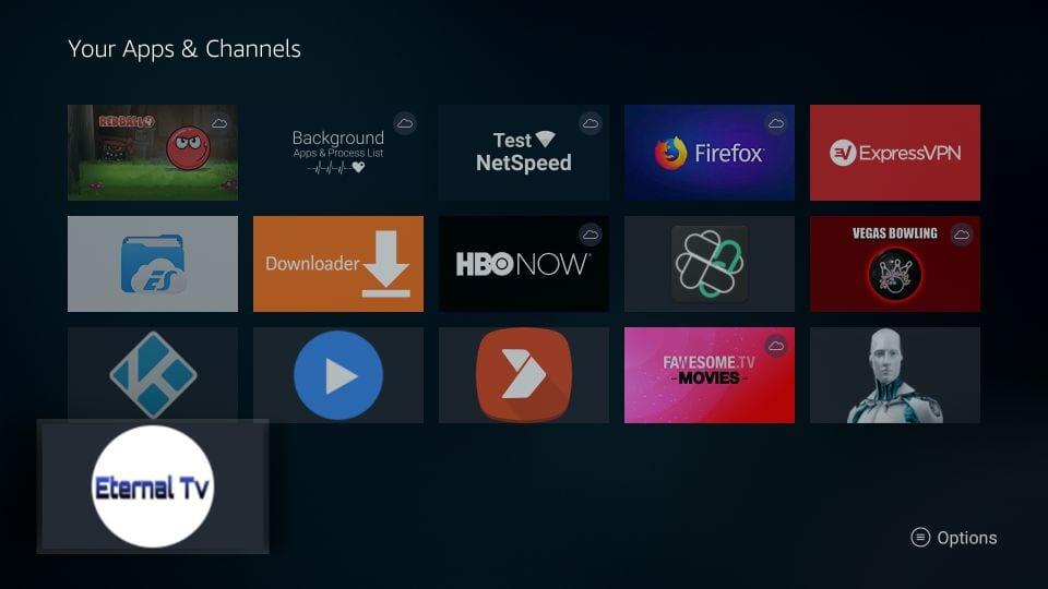 download eternal TV on Firestick