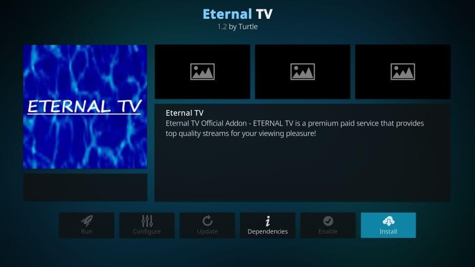 eternal TV addon for kodi