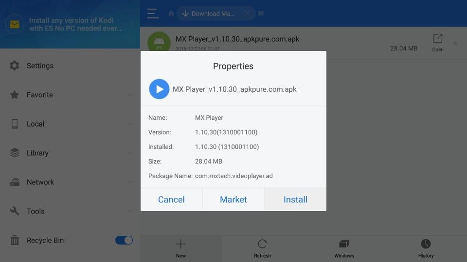 firestick mx player apk installation
