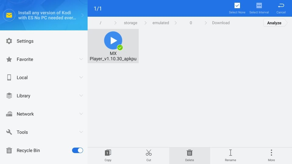 how to    use mx player on firestick