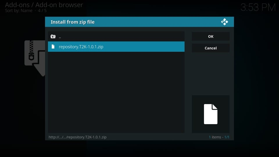 how to    install t2k 1 click film kodi addon