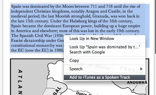 OS X Lion text-to-speech audio file