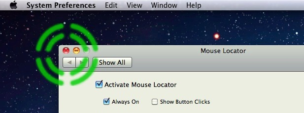 Mouse Locator for Mac OS X