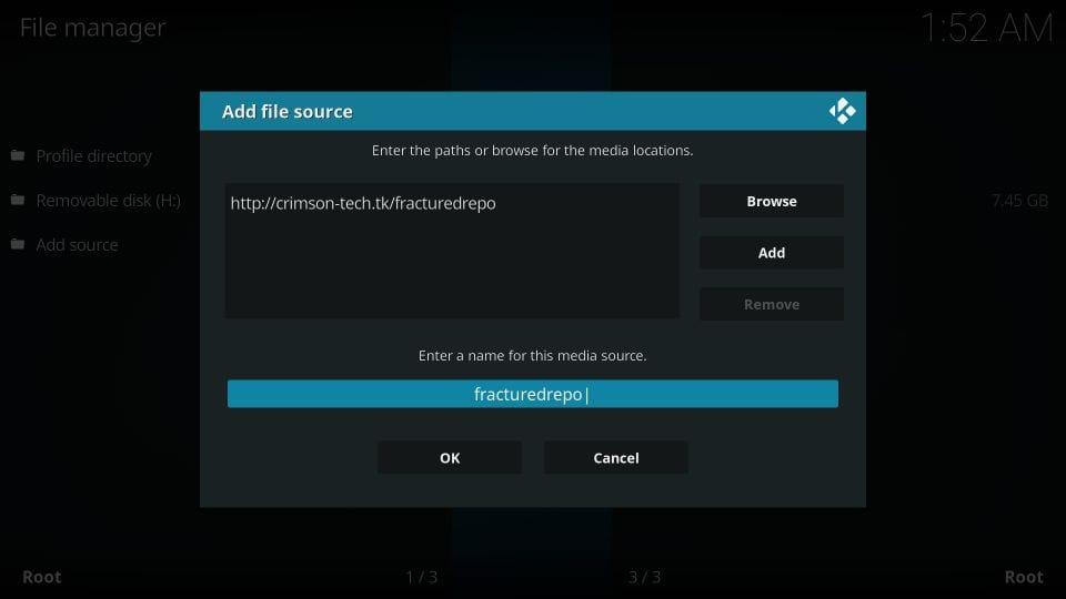 adding broken repository to kodi