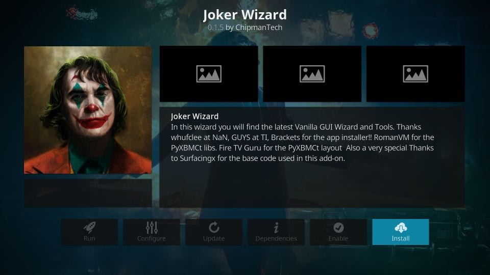 steps to install joker wizard on kodi