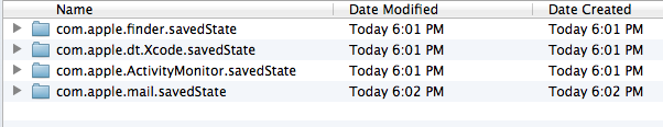 Delete specific application saved states in Mac OS X 10.7 Lion