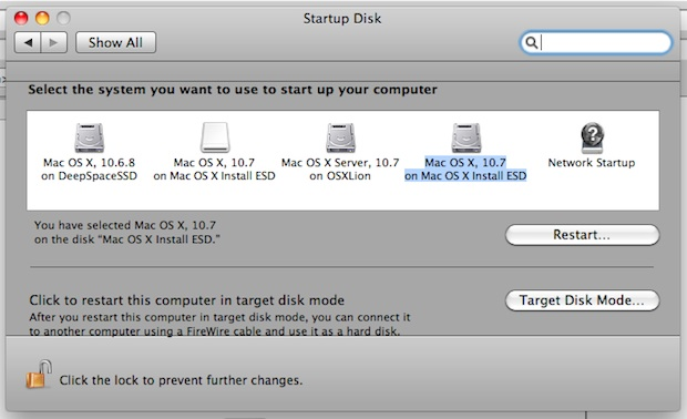 Install Lion from Target Disk Mode
