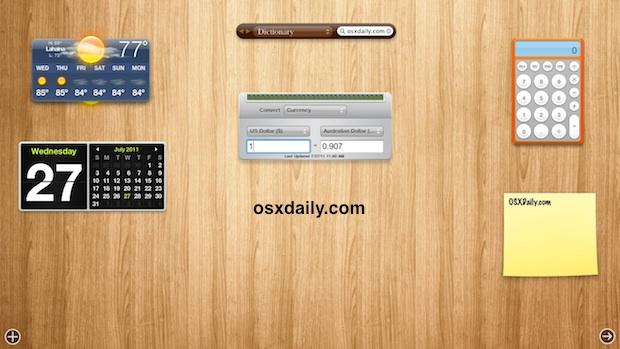 Change Dashboard Wallpaper in OS X Lion