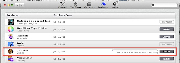 Download Mac OS X Lion again from the App Store in Mac OS X Lion