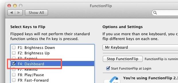 Flip F4 in FunctionFlip