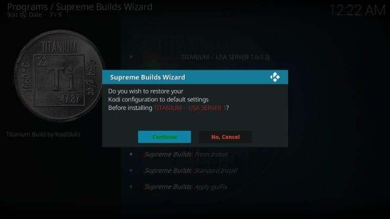 download Titanium build on kodi