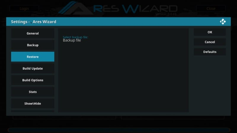 how to    kodi data back-up recover after reset