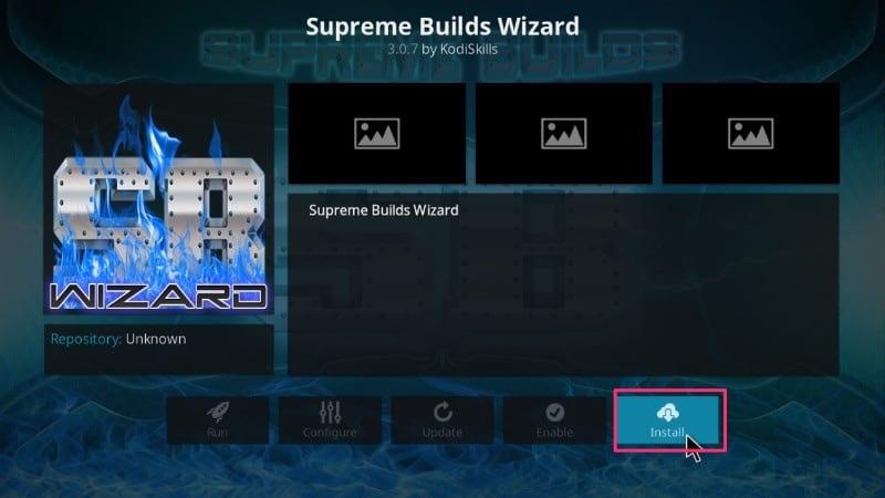 Install supreme wizard on kodi