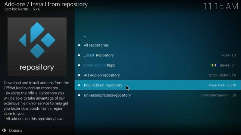 kodi addon Repository