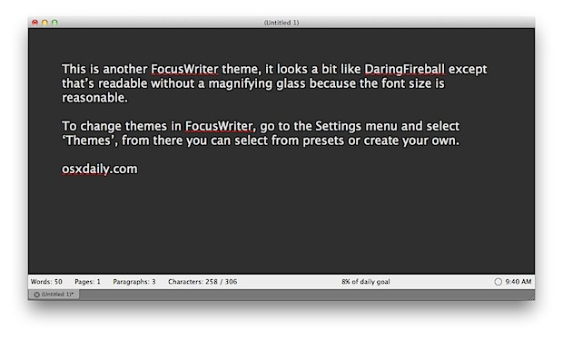 FocusWriter theme